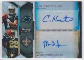 2011 Bowman Sterling Dual Autograph #BSDA-NI Cam Newton - Mark Ingram