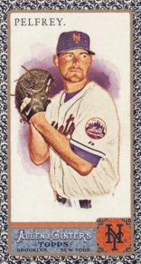 2011 Allen Ginter Mike Pelfrey Black Border Mini