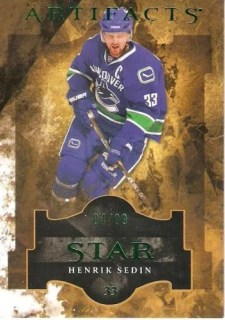 11-12 UD Artifacts Henrik Sedin Star Base Card