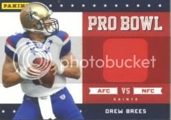 2011 Panini Black Friday Drew Brees Pro Bowl Pylon