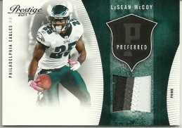 2011 Prestige LeSean McCoy Preferred Patch Jersey /50