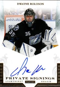 2010-11 Panini Zenith Dwayne Roloson Autograph Private Signings