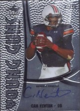 2011 Leaf Metal Draft Cam Newton Young Guns Auto