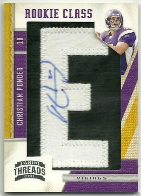 2011 Panini Threads Rookie Class Autograph Christian Ponder #/300