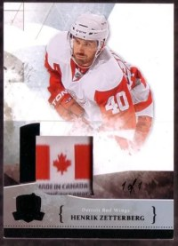 2010-11 The Cup Henrik Zetterberg 1/1 Canada Laundry Tag