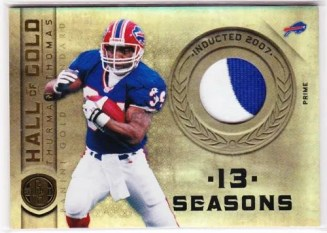 2011 Panini Gold Standard Thurman Thomas Prime Jersey Card