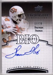 2010 Upper Deck Exquisite Thurman Thomas Bio Scripts Auto