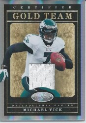 2011 Panini Certified Gold Team Michael Vick Jersey