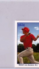 2011 TriStar Obak Mike Trout Mini Autograph