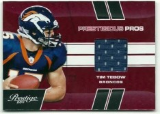 2011 Prestige Tim Tebow Jersey Card
