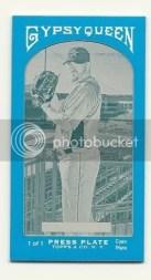 2011 Gypsy Queen Brett Myers Cyan Printing Plate 1/1