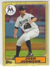 2012 Topps Josh Johnson 1987 Mini Topps