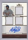 2011 Topps Tribute Albert Pujols Triple Relic Autograph Card