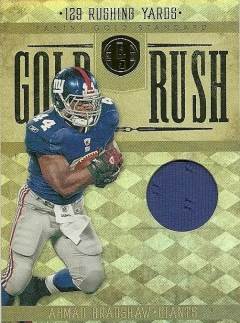 2011 Panini Gold Standard Ahmad Bradshaw Jersey Card Gold Rush