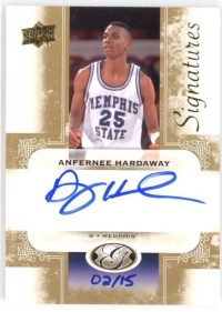 2011 Upper Deck All Time Greats Anernee Hardaway Autograph