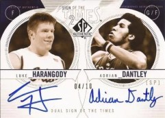 10-11 Sp Authentic Basketball Sign of the Time Dual Autograph