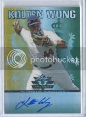 2011 Leaf Valiant Baseball Kolten Wong Autograph