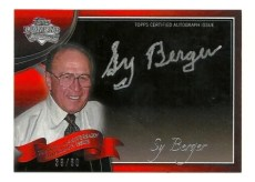 2011 Topps Lineage Sy Berger Autograph /60