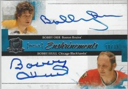 10-11 UD The Cup Hockey Dual Enshrinements