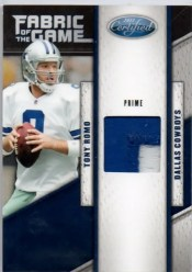 2011 Leaf Certified Fabric of the Game Tony Romo Prime
