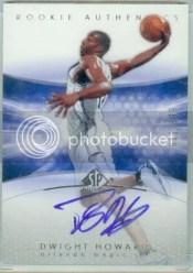 2004-05 Sp Authentic Dwight Howard Rookie Autograph