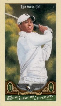 2011 Goodwin Champions Tiger Woods Mini Card