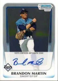 2011 Bowman Draft Picks Brandon Martin Autograph