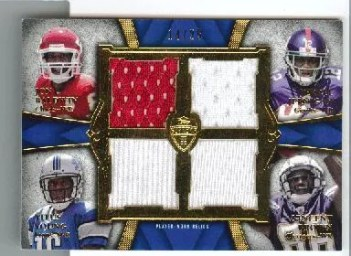 2011 Topps Supreme Quad Relic Jon Baldwin - Jerrel Jernigan - Titus Young - Vincent Brown