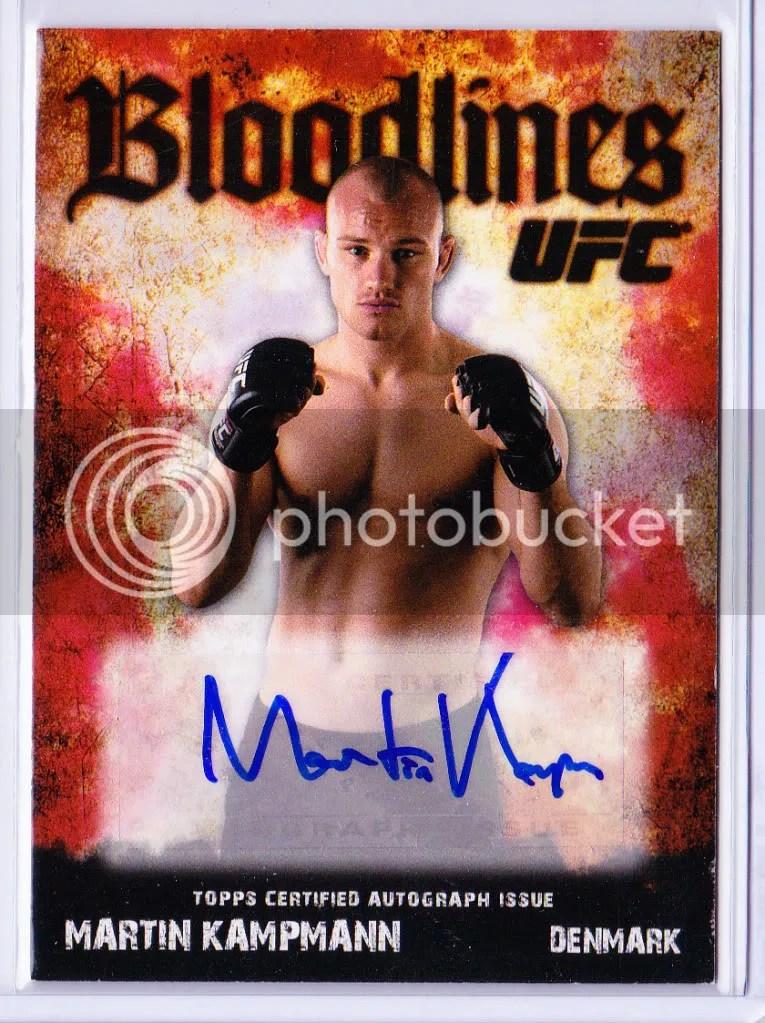 2009 Topps UFC Bloodiness Autographs Martin Kampmann Card