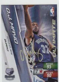 O.J. Mayo Adrenalyn Ultimate Signature Card