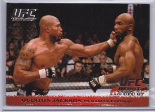2009 Topps UFC Round 1 Base Set Quinton Jackson - Marvin Eastman Silver
