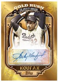 2012 Topps Gold Rush Sandy Koufax Autograph