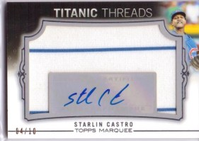 2011 Topps Marquee Starlin Castro Autograph Titanic Threads Relic