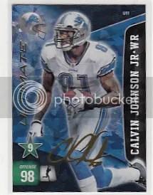 2011 Panini Adrenalyn Calvin Johnson Ultimate Signature Card