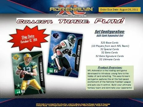 2011 Panini Adrenalyn XL Football Series 2 Preview