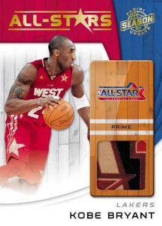 2010-11 Panini Season Update NBA All-Stars Kobe Bryant Prime Jersey Card