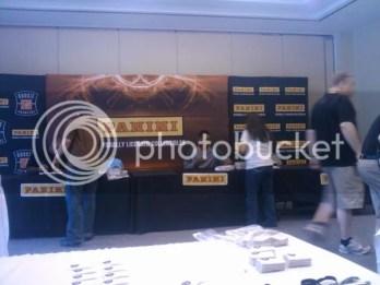Taiwan Jones Signing Autographs for Panini at Photo Shoot