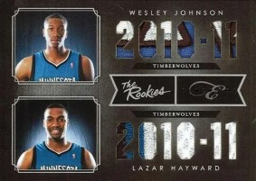 10/11 Elite Black Box Johnson - Hayward Dual Prime The Rookies Card