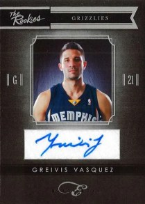 2010-11 Panini Black Box The Rookies Greivis Vasquez Auto