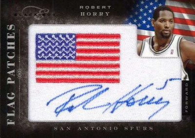 2010-11 Panini Black Box Flag Patch Robert Horry Autograph
