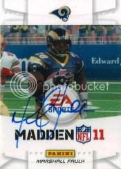 2011 Panini Black Friday Marshall Faulk EA Sports Autograph
