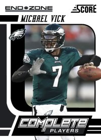 2011 Score Football Michael Vick End Zone Complete Players Insert Card