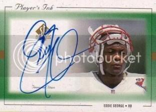 1999 Upper Deck SP Authentic Players Ink EG-A Eddie George Card