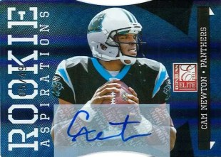 2011 Donruss Elite Football Cam Newton Autograph Aspirations #5/49
