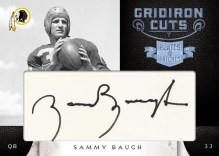 2011 Panini Plates & Patches Sammy Baugh Cut Signature
