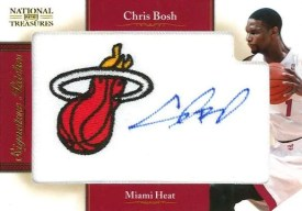 2010-11 Panini National Treasures Team Logo Chris Bosh Autograph #3