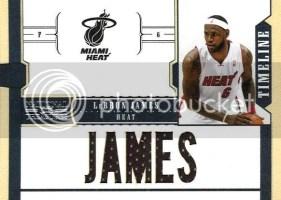2010-11 Panini National Treasures LeBron James Player Name Jersey Card