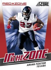 2011 Score Football In The Zone Arian Foster Insert Card