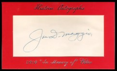 2011 Historic Autographs Joe DiMaggio Cut Signature