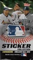 2011 Topps MLB Sticker 8 Card Pack